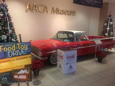 You are invited to donate food and toys at the AACA Museum