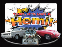 Yeah It's Got a Hemi Logo with Hemi Engine and Car Images with Hemi Engines