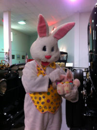 Easter Bunny visits AACA Museum