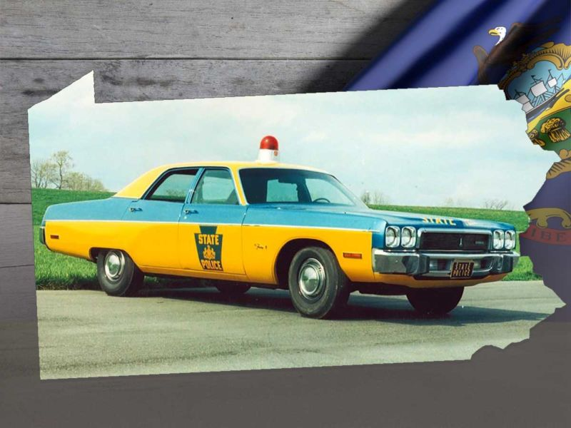Vintage PA State Police Car