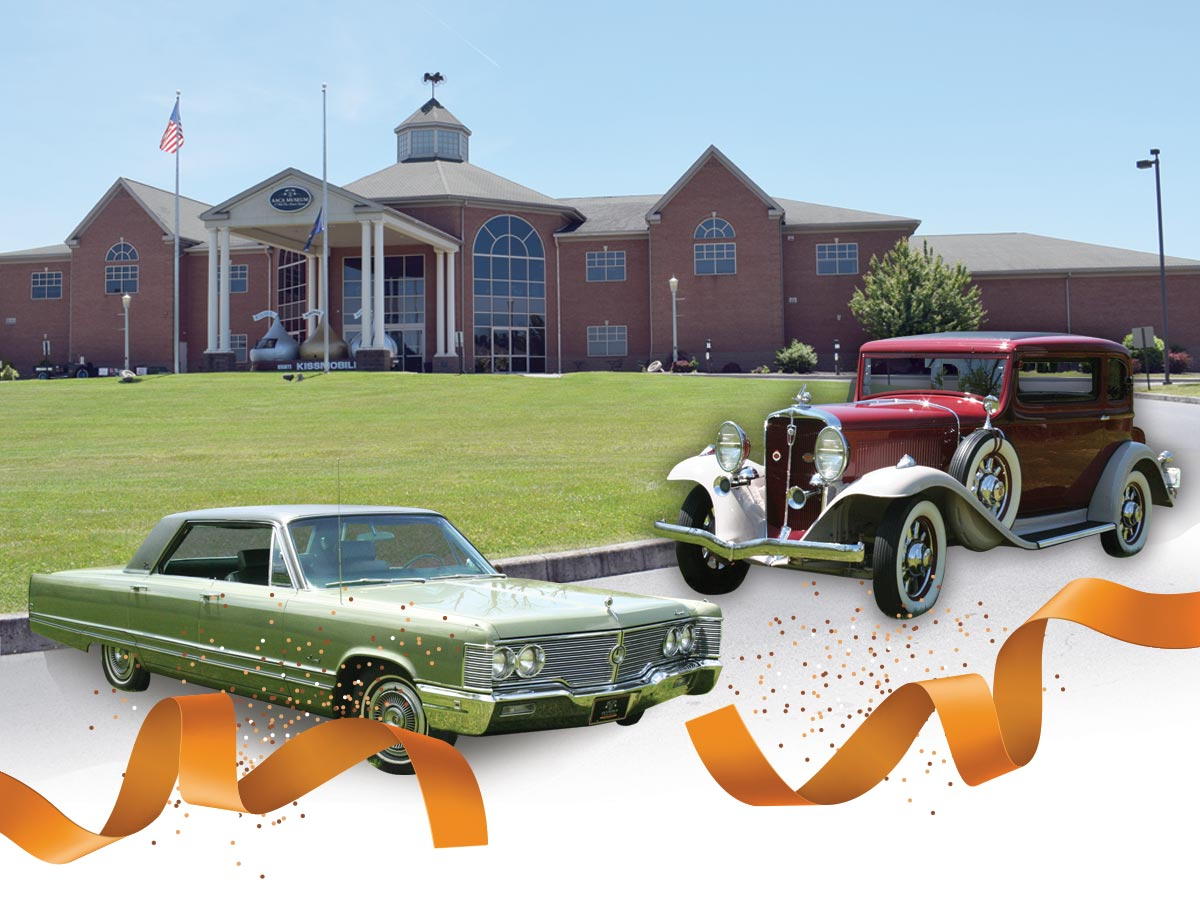 aaca museum building and car graphic