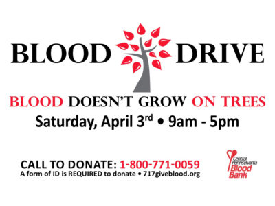 blood drive announcement
